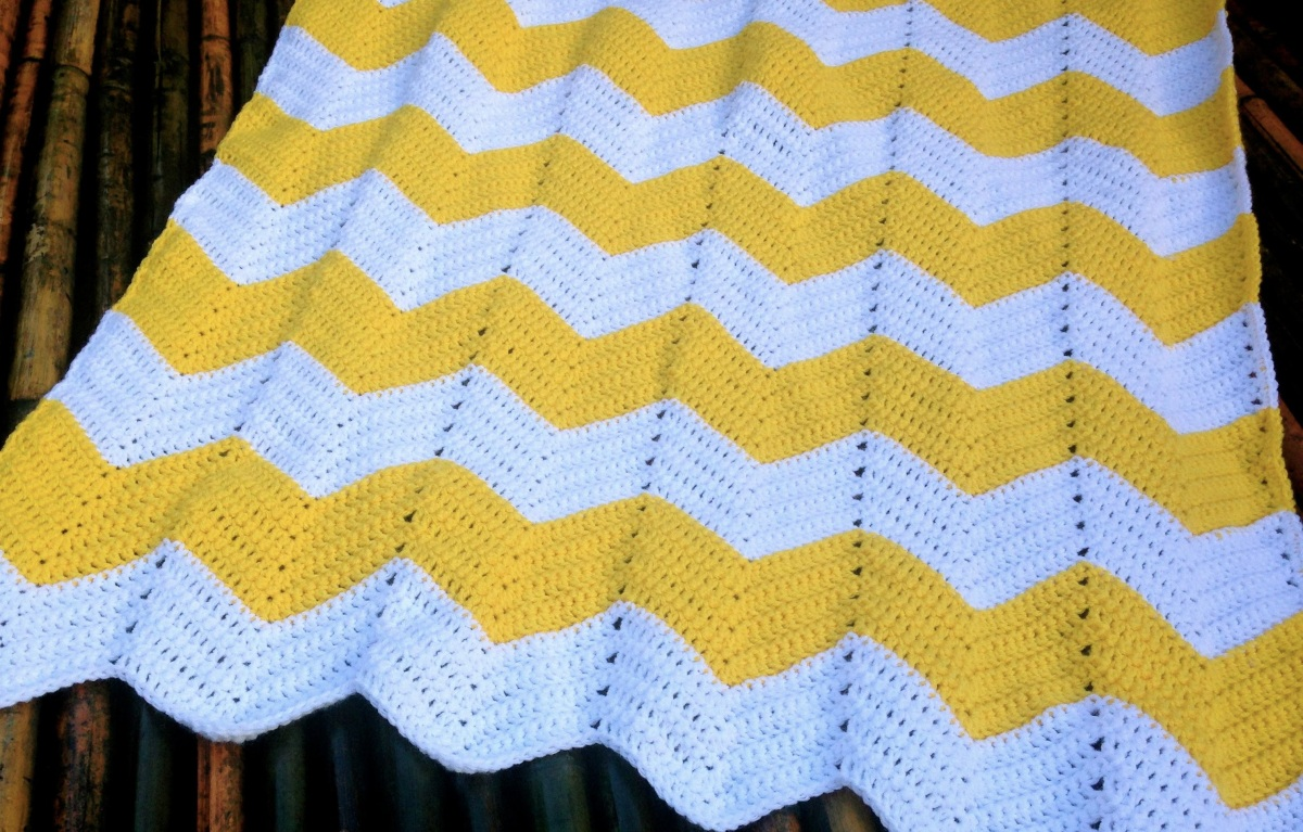 Crochet Pattern Chevron Baby Blanket : free chevron crochet patterns Quotes