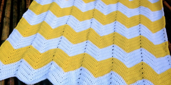 Chevron Baby Blanket Free Crochet Pattern Bellus Threads