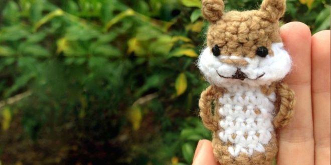 Squirrel Free Finger Puppet Crochet Pattern Bellus Threads