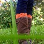 Orange Boot Cuffs
